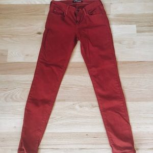 Angry Rabbit Red Skinny Jeans